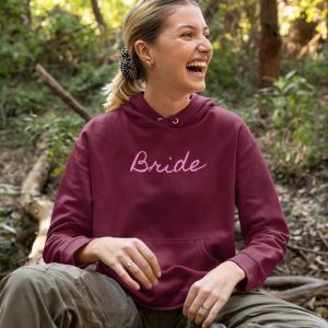 personalized bride to be hoodies