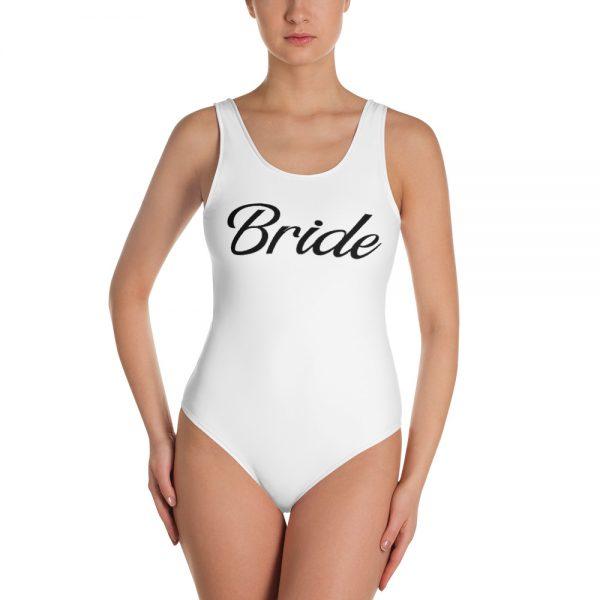 white bride swimsuit