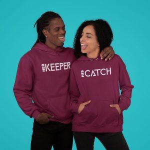 custom matching couple hoodies