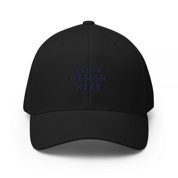 closed back structured cap black front 6031625374d53