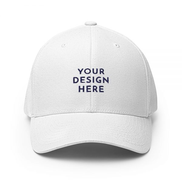 closed back structured cap white front 6031625375528