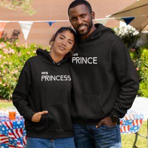 prince and princess couple hoodies