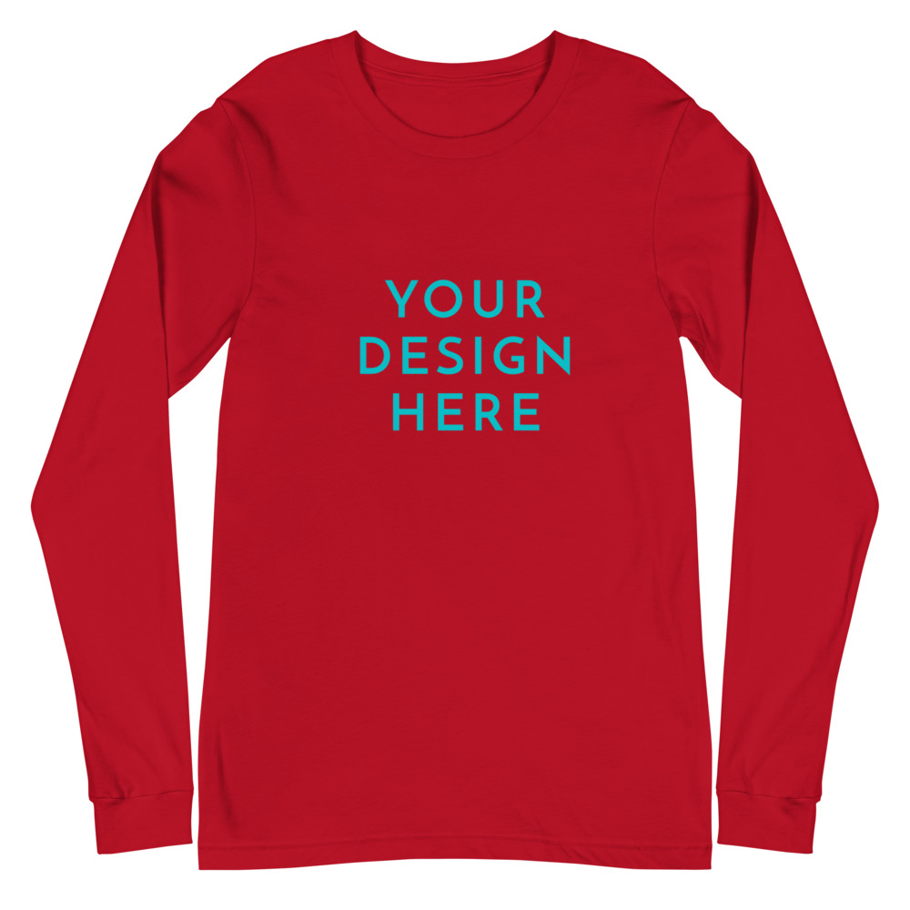 unisex long sleeve tee red front 60315f1249f1b
