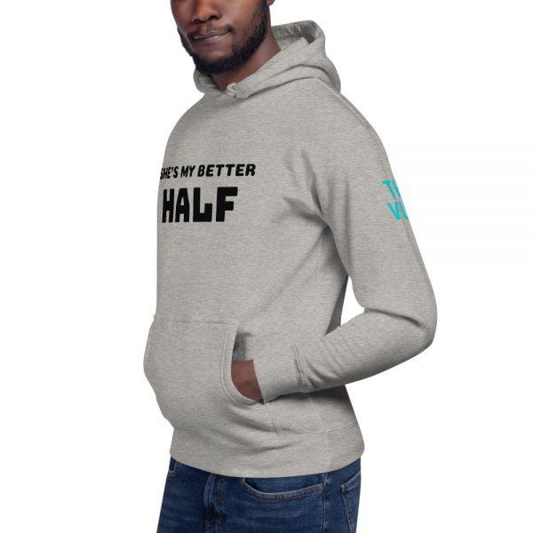 unisex premium hoodie carbon grey left front 602bb086ee276