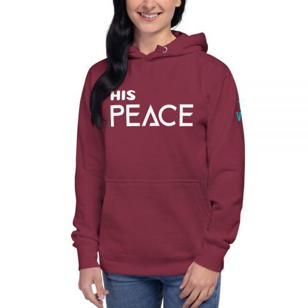 unisex premium hoodie maroon front 602a5bb947144