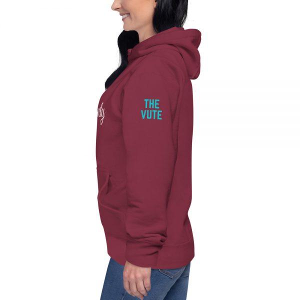 unisex premium hoodie maroon left 602a6cc83cf69
