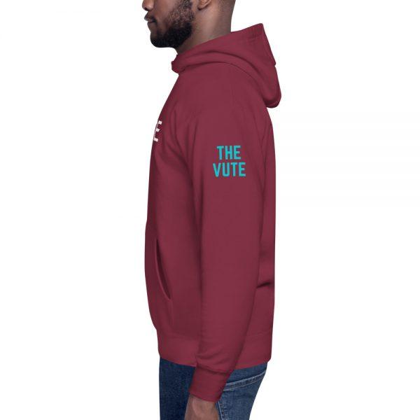 unisex premium hoodie maroon left 6031d6af3eacd