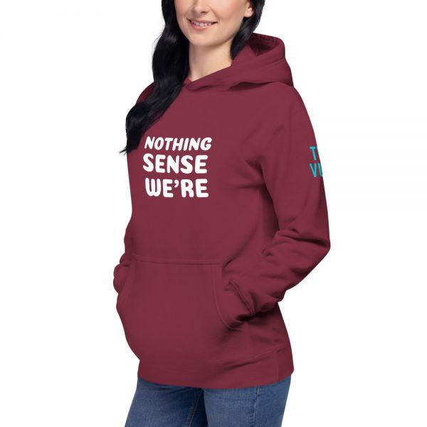 unisex premium hoodie maroon left front 602a64796418c