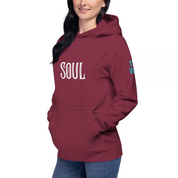 unisex premium hoodie maroon left front 60311cb45e11f